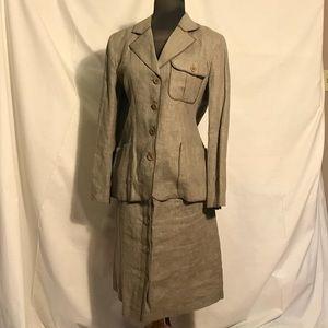 Vintage Harve Benard linen suit size 8 petite